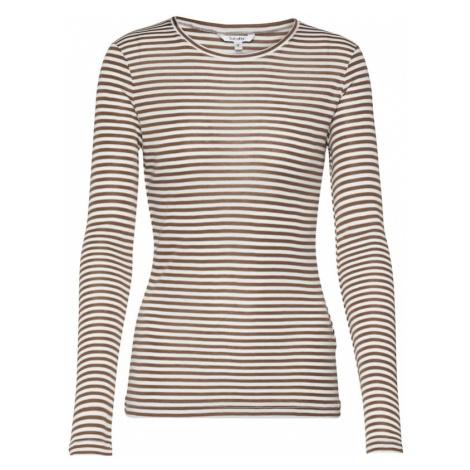 Mbym Koszulka 'Lilita' brązowy / biały