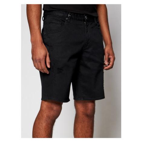 Armani Exchange Szorty jeansowe 3KZJ80 Z1AAZ 1200 Czarny Slim Fit