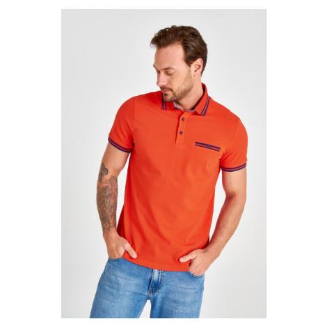 Trendyol Orange Men's Polo Collar T-Shirt