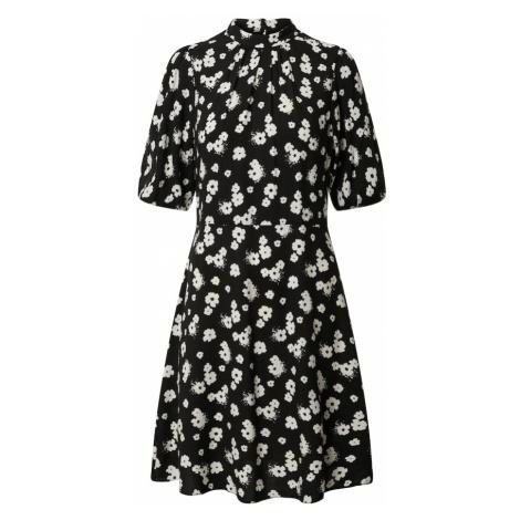 Dorothy Perkins Sukienka koszulowa 'Floral Bubble Sleeve Mini Dress' czarny