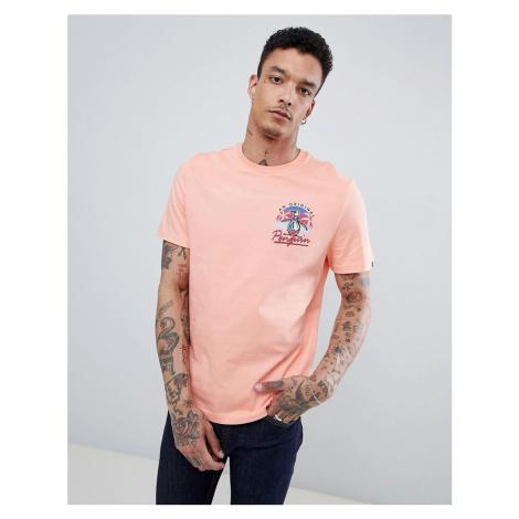 Original Penguin 80s Pete Penguin back print t-shirt in pink