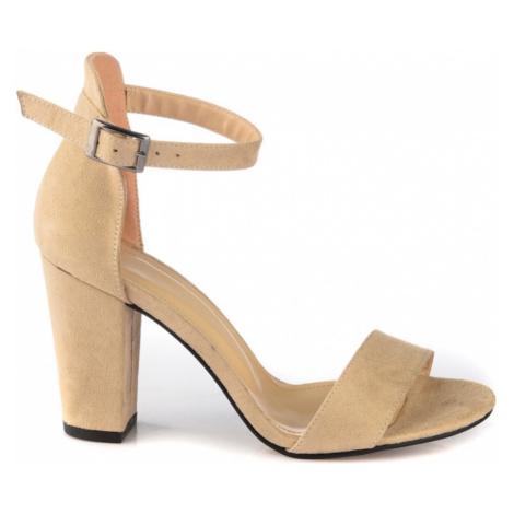 Trendyol Beige Suede Women Classic Heels