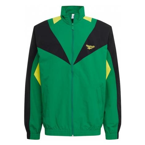 Reebok Classic Kurtka funkcyjna czarny / zielony / cytrynowo-żółty