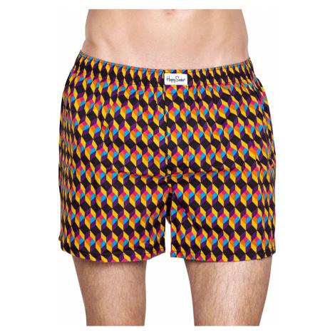 Happy Socks kolorowe boksery z nogawkami Optic Square Boxer