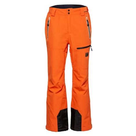 Superdry Snow Spodnie outdoor 'FREESTYLE' czarny / ciemnopomarańczowy