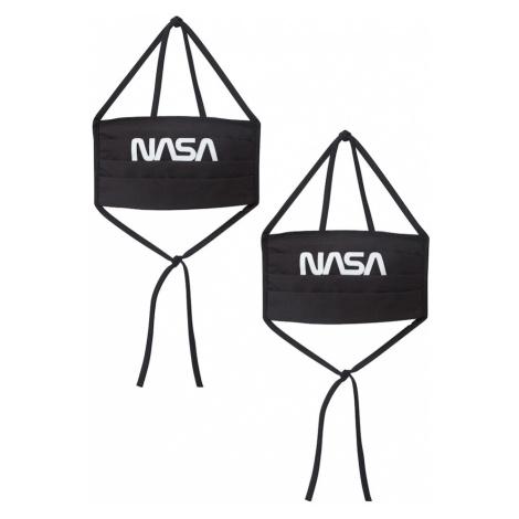 Mister Tee Maska z materiału 'NASA' czarny
