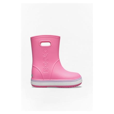 Kalosze Crocs Crocband Rain Boot Kids 205827 Pink Lemonade/lavender
