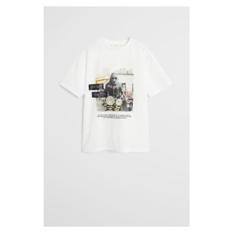 Mango Kids - T-shirt dziecięcy Animal 110-164 cm
