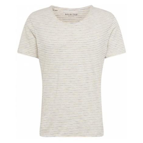 SELECTED HOMME Koszulka kremowy / granatowy / miodowy