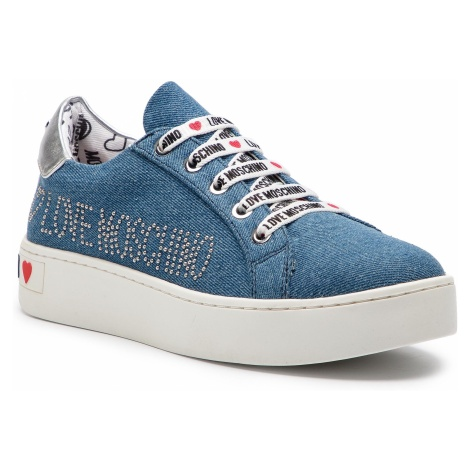 Sneakersy LOVE MOSCHINO - JA15243G17IH0750 Denim Blu