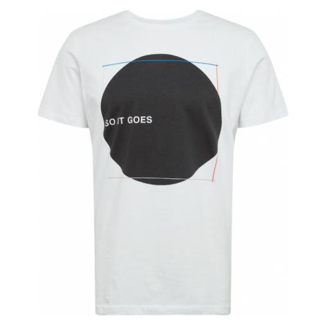 SELECTED HOMME Koszulka 'Windsor' biały / czarny