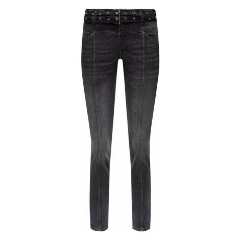 The Kooples Jeansy FJEA19027J Czarny Short Fit