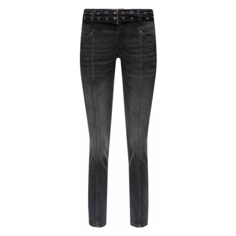 The Kooples Jeansy Slim Fit FJEA19027J Czarny Short Fit