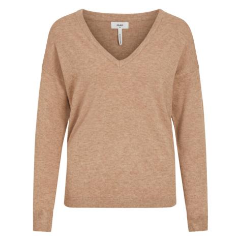 OBJECT Sweter 'OBJTHESS' nakrapiany brązowy