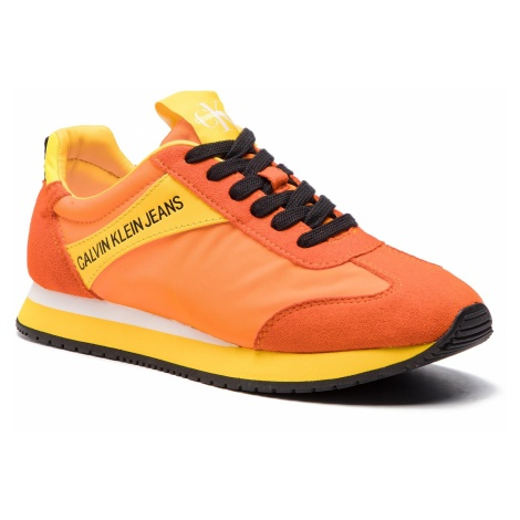 Sneakersy CALVIN KLEIN JEANS - Jill R8527 Multi Orange