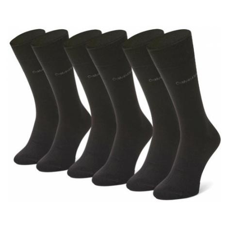 Calvin Klein Zestaw 3 par wysokich skarpet męskich 100001752 r.OS Czarny