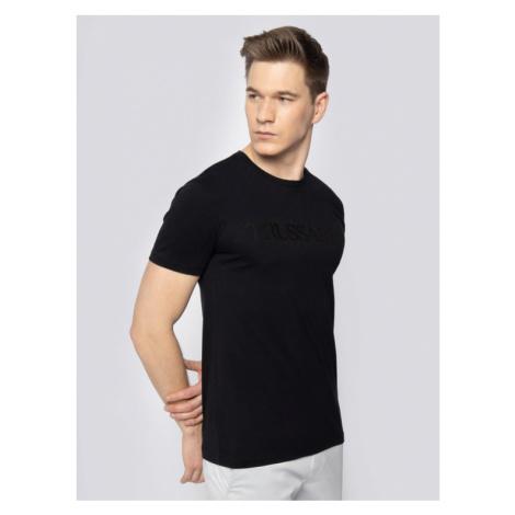 Trussardi Jeans T-Shirt 52T00328 Czarny Regular Fit