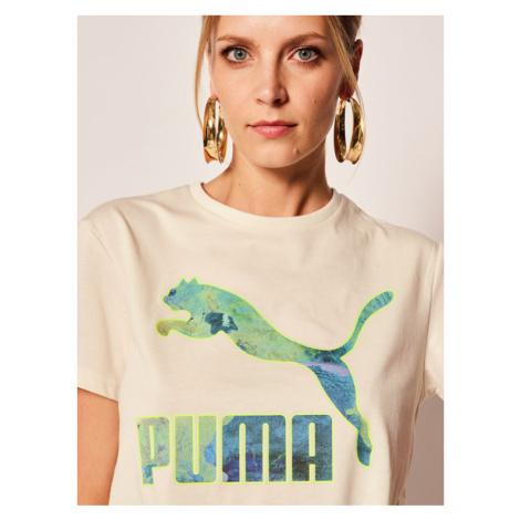Puma T-Shirt Csm Logo 597274 Beżowy Regular Fit
