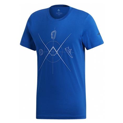 ADIDAS Koszulka męska TERREX ASCEND TEE-XL-Granatowy