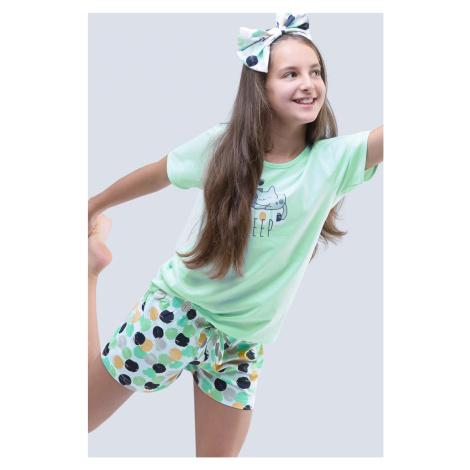 Dziewczęca piżama letnia Cats Aqua Gina
