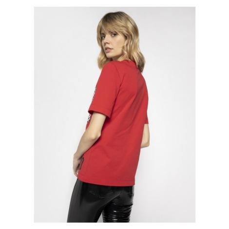 LOVE MOSCHINO T-Shirt W4F152CM 3876 Czerwony Regular Fit
