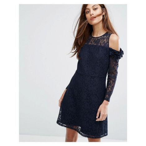 Whistles Elis Cold Shoulder Lace Dress