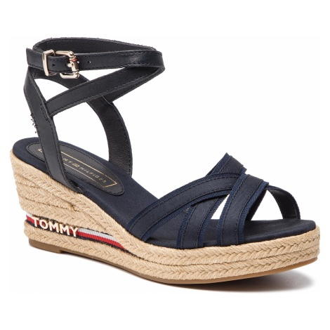 Espadryle TOMMY HILFIGER - Iconic Elba Corporate Ribbon FW0FW04056 Midnight 403
