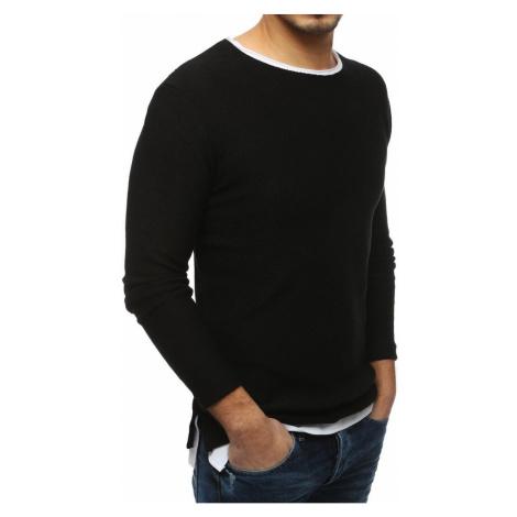 Czarny męski sweter WX1452 DStreet