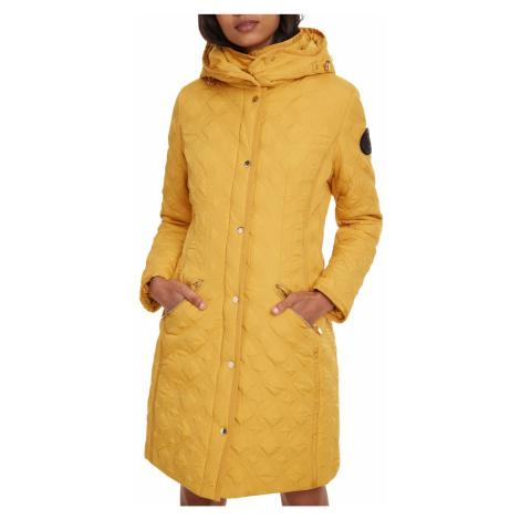 Desigual musztardowy płaszcz Padded Leicester