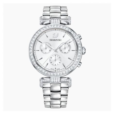 Zegarek Era Journey, bransoleta z metalu, biały, stal nierdzewna Swarovski