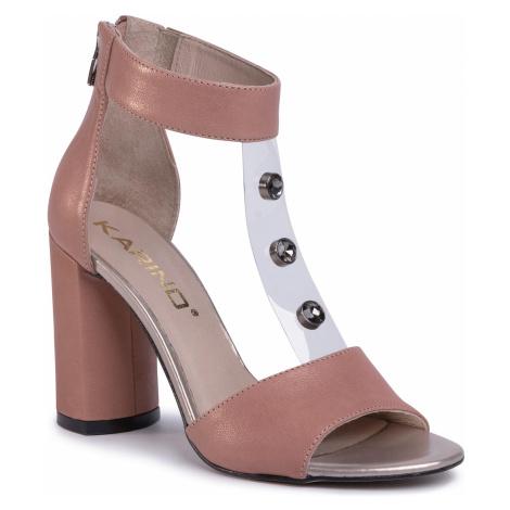 Sandały KARINO - 3239/071 Pudrowy Róż