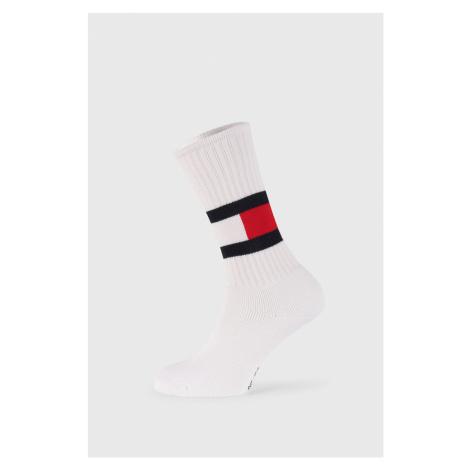 Wysokie białe skarpetki Tommy Hilfiger Flag