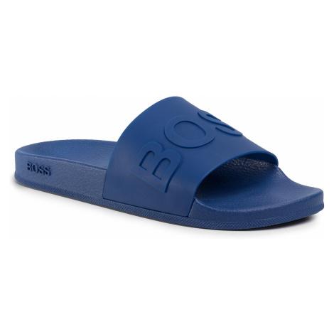 Klapki BOSS - Bay 50425152 10224455 01 Bright Blue 430 Hugo Boss