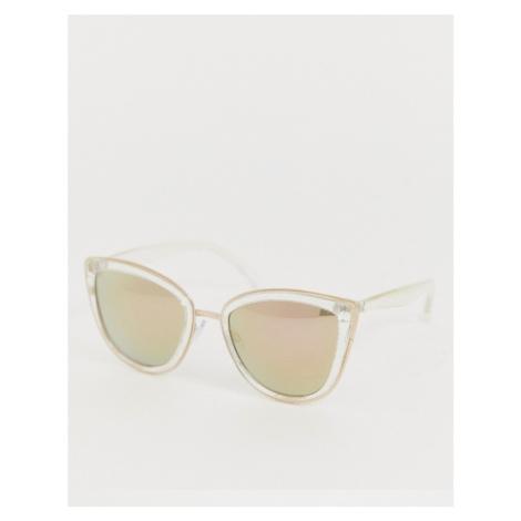 AJ Morgan oversized cat eye sunglasses in crystal