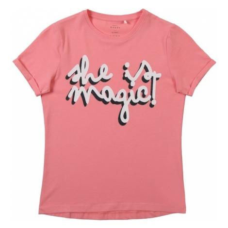 NAME IT Koszulka 'Vixi' atramentowy / różowy / biały