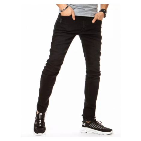 Czarne męskie spodnie dżinsowe Dstreet UX3150