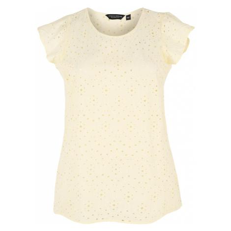 Dorothy Perkins Curve Koszulka 'Lemon Broderie' jasnożółty