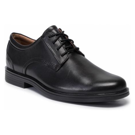 Półbuty CLARKS - Un Aldric Lace 261326777 Black Leather