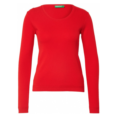 UNITED COLORS OF BENETTON Sweter czerwony