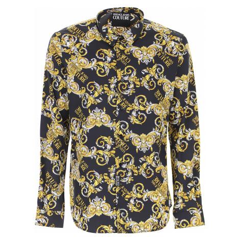Versace Jeans Couture Koszula dla Mężczyzn, czarny, Bawełna, 2019
