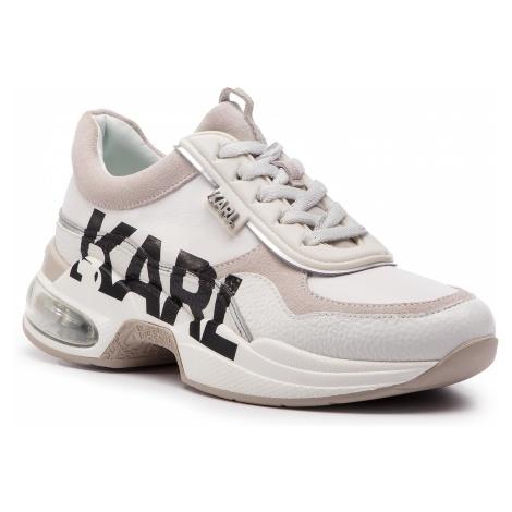 Sneakersy KARL LAGERFELD - KL61723 White Lthr