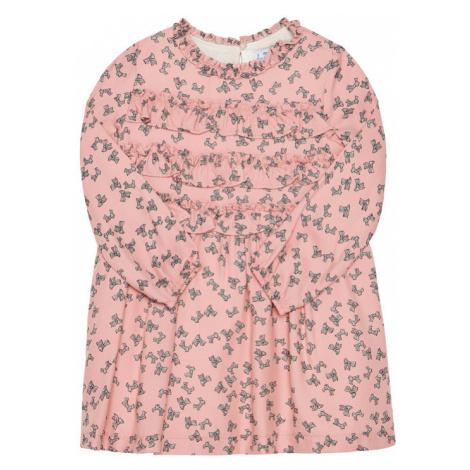 Mayoral Sukienka codzienna 4984 Różowy Regular Fit