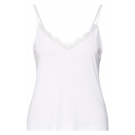 NA-KD Top 'Lace Detailed Slip Singlet' biały
