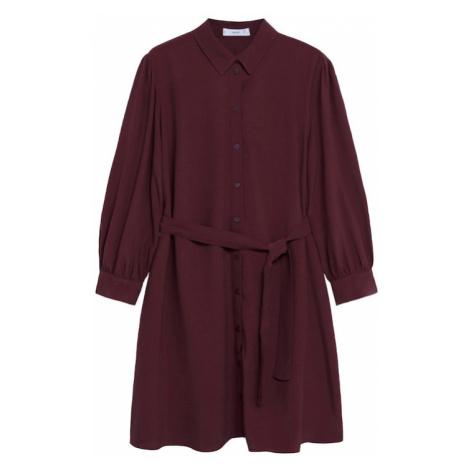 MANGO Sukienka koszulowa 'Leandra' czerwone wino