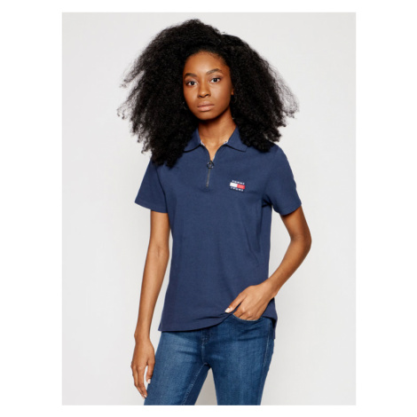Tommy Jeans Polo Badge DW0DW09146 Granatowy Regular Fit Tommy Hilfiger