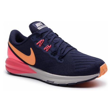Buty NIKE - Air Zoom Structure 22 AA1640 400 Racer Blue/Orange Peel