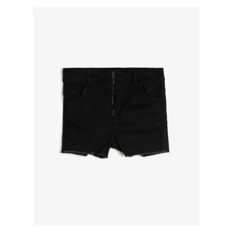 Koton Girls Czarny Wygodne Dopasowanie Talia Elastyczne Krótkie Spodenki Jean