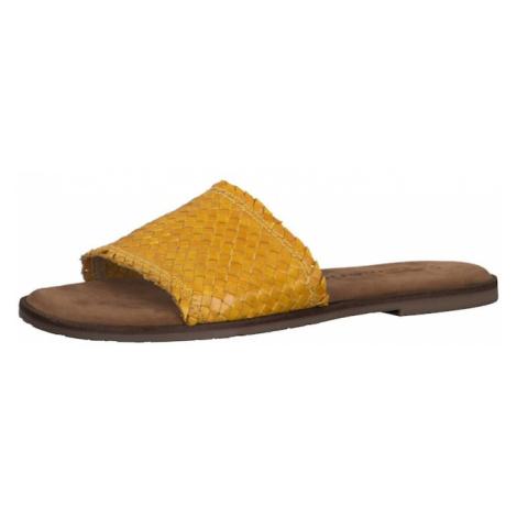 TAMARIS Klapki żółty