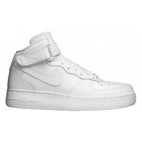 "Nike Air Force 1 Mid (GS) ""All White"" (314195-113)"