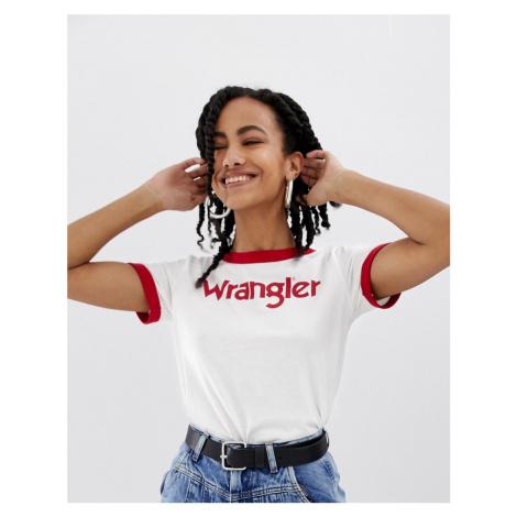 Wrangler ringer t-shirt with front logo